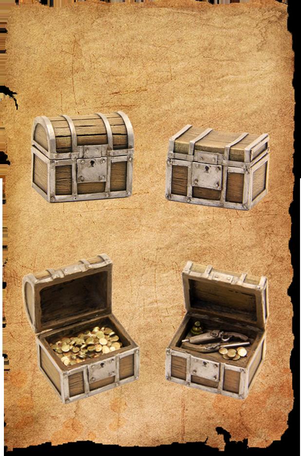 2 treasure chests