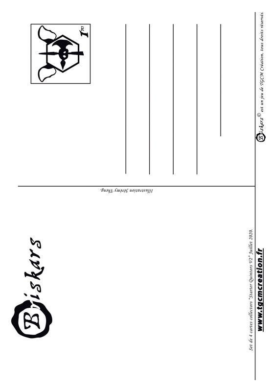 Carte postale quintors v2 dos