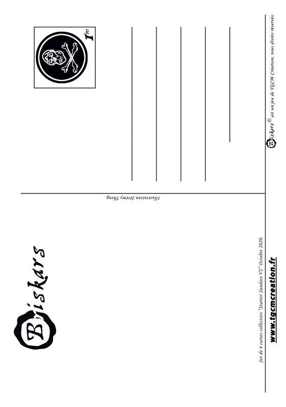 Carte postale sundars v2 dos