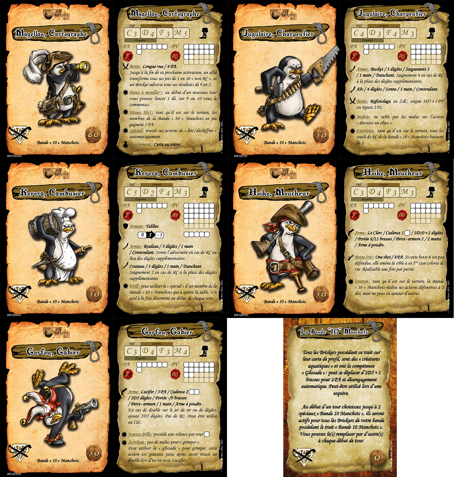 Cartes coffret penguins 3