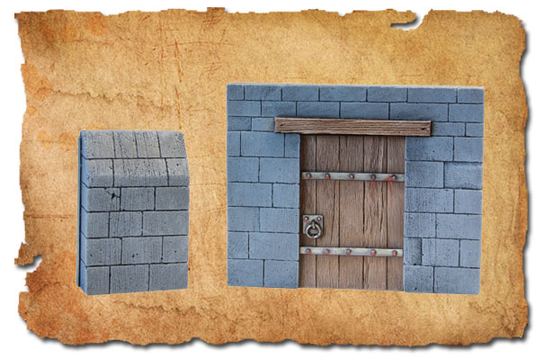 Wall and Tavern door